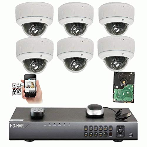 Amazing Deal Amview Security 8CH 4K NVR IP Security Camera System - 6 x HD 5.0 Megapixel (1920P/1080...