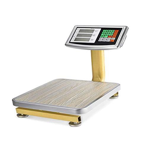 ZCY Elektronische weegschaal met led-achtergrondverlichting, industriële prijsberekening, weegt 60 kg.