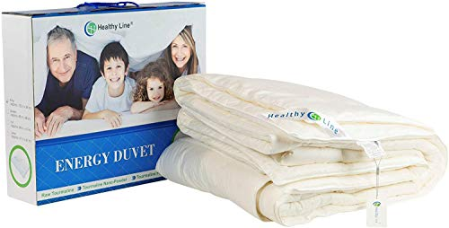 HealthyLine Cashmere and Tourmaline Filled Comforter - 300 TC Cotton Exterior with Bio-Magnetic Therapy (Full)
