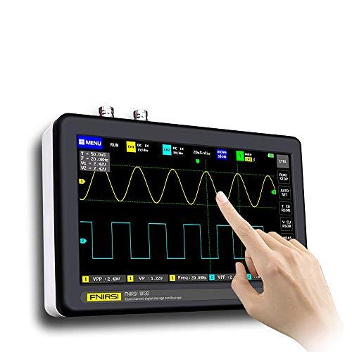 KK moon デジタル オシロスコープ ADS1013D 2チャネル 100MHz帯域幅 多機能オシロスコープ 1GSa / sサンプリングレートオシロスコープ 7インチカラー TFT LCDタッチスクリーン