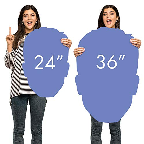 """Party City Custom Big Head Cardboard Prop Sign, Upload Your Own, Personalized Birthday Party Supplies, 36"""""""