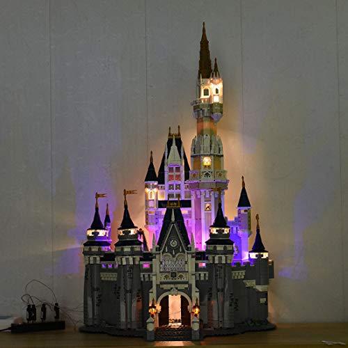 Likecom Juego de iluminación LED para castillo de Disney (compatible con Lego 71040)
