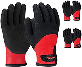 Waterproof Insulated Thermal Work Gloves - KG140W, Cold Condition Winter Gloves for Men and Women, Full Hand Double Latex Coated Ultra-Fine Crinkle Grip (3, Small)