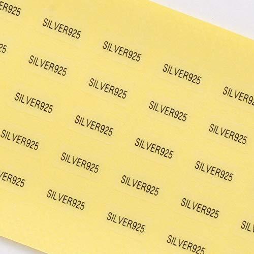 だいし屋 日本製 台紙用シール 10×5mm アクセサリー台紙用 (SILVER925・透明, 250枚)