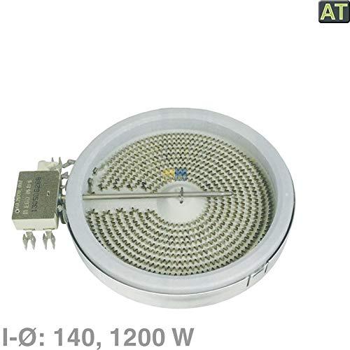 LUTH Premium professionele onderdelen radiator 140mm Ø 1200W 230V