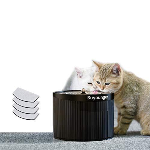 Fuente para Perros y Gatos,Dispensador de Agua Automático para Mascotas de Gatos/Perros, Fuente Dispensadora Automática de Agua para Mascotas, Ultra Silencioso,Botella de Agua de 2L (20_cm) (20_cm)