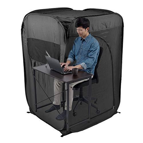 サンワダイレクト プライバシーテント 個室 ゲーミングテント 在宅勤務 テレワーク 室内 ブラック 200-TENT001-T