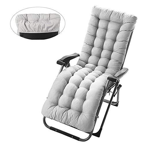 tianzhiguoa Sun Lounger Cushion Pads Portable Garden Patio Thick Relaxer Chair Seat Cover for Travel Holiday Garden Indoor Outdoor (1pcs, grey)