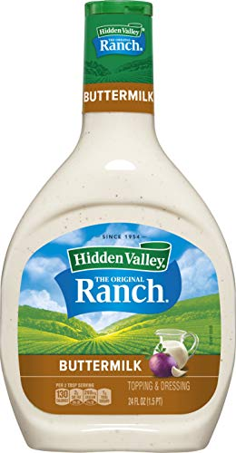 Hidden Valley Buttermilk Ranch Salad Dressing & Topping, Gluten Free - 24 Ounce Bottle (Package May Vary)