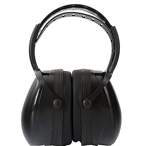 Protección auditiva Aislante de Ruido Profesiona 27dB SNR Compacto y Plegable Protectores Auditivos Ruido ProteccióN Auditiva Laboral para Caza Disparo Estudiar,Black