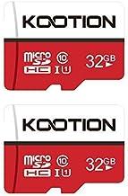 KOOTION Micro SD 32GB Clase 10 Tarjeta de Memoria Micro SDHC Tarjeta MicroSD(U1 y A1) 32 Giga Memory Card TF Card Alta Velocidad de Lectura hasta 100 MB/s, para Móvil,Cámara Deportiva,Switch,Gopro