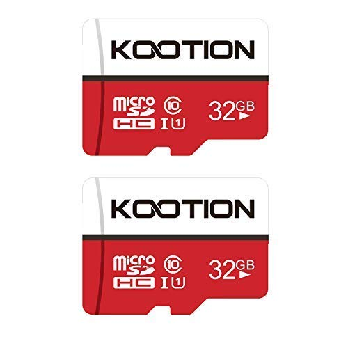KOOTION Carte Micro SD 32 Go Lot de 2 Carte Mémoire UHS-I Vitesse jusqu'à 85 m/s,TF Micro SDHC, T-Flash Classe 10, U1 pour Drone/Dash Cam/Camera/Phone/Nintendo-Switch/PC/Tablet