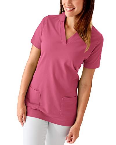 CLINIC DRESS Longshirt Damen Shirt mit 60% Baumwolle Rosenholz 34/36