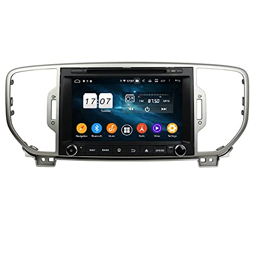 Autoradio Navigatore Satellitare FM AM Lettore Multimediale Android 10.0 Autoradio Touch Per Screen Navigazione GPS Per Kia SPORTAGE 2018-2019 Supporto Bluetooth WIFI GPS USB SD(Color:WIFI 4G+64G)