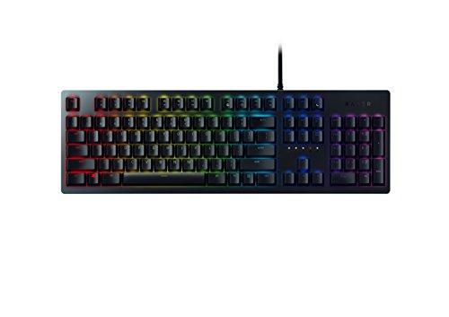 Razer Huntsman Mechanisch gamingtoetsenbord, met optische mechanische schakelaars, levensduur van 100 miljoen toetsaanslagen, RGB chroma verlichting, QWERTZ lay-out, zwart
