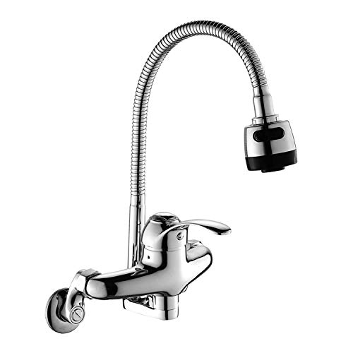 Wall Mount Faucet Kitchen 6 Inch Center with Sprayer...