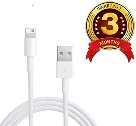 Priefy Fast USB Data Charging Cable for iPhone, iPad Air iPad Mini iPod Nano & iPod Touch -White