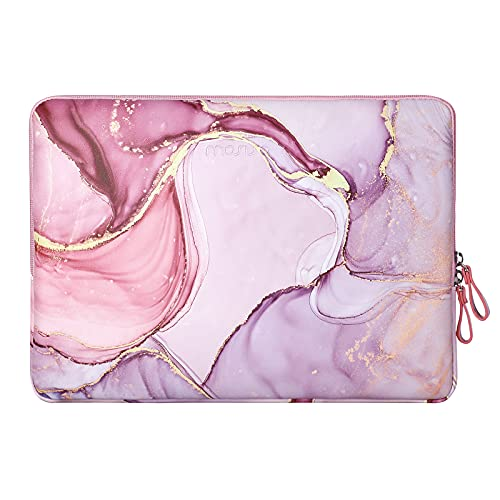 MOSISO Laptop Sleeve Bag Compatible with 13-13.3 inch MacBook Air, MacBook Pro Retina, 2019 2018 Surface Laptop, Notebook Computer, PU Leather Padded Bag Waterproof Case Marble MO-MBH216