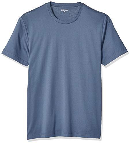 Goodthreads Short-Sleeve Crewneck Cotton fashion-t-shirts, Denim Blue, X-Large