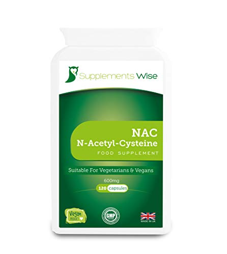 NAC Supplement - N-Acetyl-Cysteine 600mg - 120 Capsules - Lung Health Support - Liver Function Cleanse - Highly Bioavailable Amino Acid - Suitable for Vegans and Vegetarians - Up to 4 Months Supply