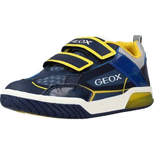Geox Jungen J INEK Boy A Sneaker, Blau (Navy/Yellow C0657), 33 EU