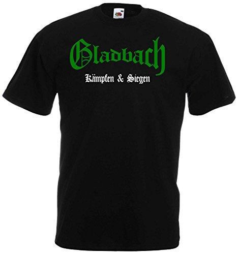 Gladbach Herren T-Shirt kämpfen und Siegen Ultras Shirt