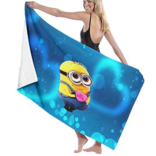 Toalla de playa personalizada Minions para niñas 100% microfibra toalla de baño