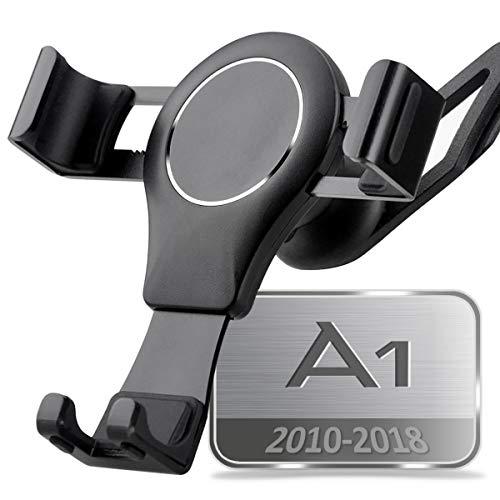 Porta Cellulare da Auto per Audi A1, 360 Rotatable Porta Cellulare Auto Gravity Smartphone Supporto Metallo Lega di Alluminio Universale Audi Phone Holder Car Phone Holder (Nero)