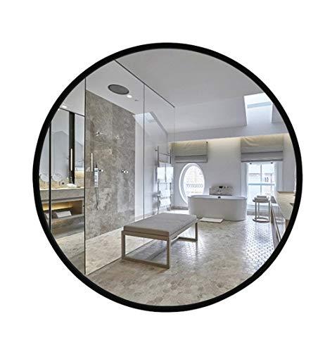 Cadre En Bois Noir, Miroir De Vanité Fixé Au Mur De Miroir De Salle De Bains De Mur Rond (taille : 70cm)