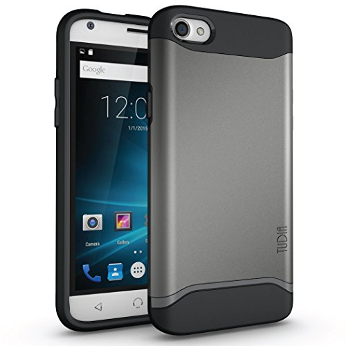 TUDIA Slim-Fit Merge Dual Layer Protective Case for NUU Mobile X4 Smartphone (Metallic Slate)