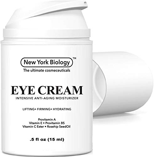 Eye Cream Moisturizer for Dark Circles, Fine Lines, Puffiness and Wrinkles Under the Eyes – Intensive Anti Aging Formula with Provitamin A and B5, Vitamin C and E – .5 fl oz (15ml)