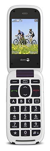 Doro PhoneEasy 613 Mobiltelefon im eleganten Klappdesign (2 Megapixel Kamera, große Tasten und Display, Notruftaste) aubergine-weiß