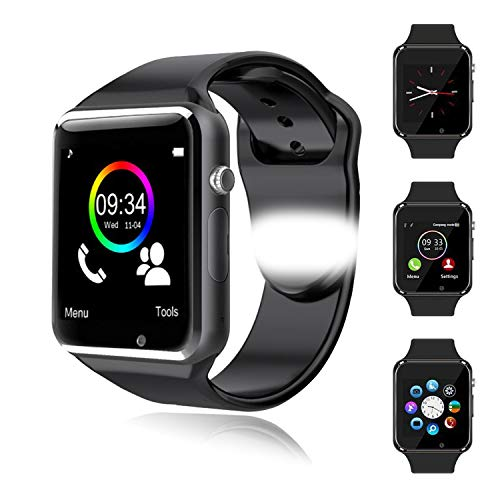 XTHAILIANG Smartwatch, Reloj Inteligente Mujer Hombre Pulsera Actividad Inteligente Monitor de Sueño Podómetro Contador,Ranura para Tarjeta SIM, Notificación de Mensaje, para Android iOS