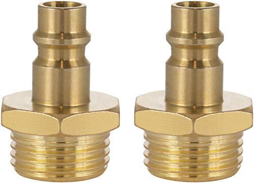 Poppstar Conector compresor aire macho, diámetro nominal 7,2 mm con rosca exterior de 1/2 pulgada para conexión de aire comprimido, 2 piezas