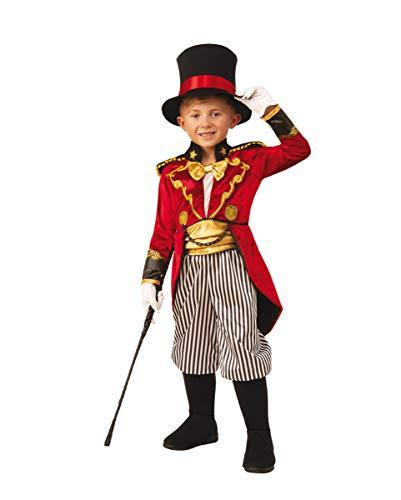 Horror-Shop Edler Zirkusdirektor als Kinderkostüm mit Hut für Halloween und Karneval M