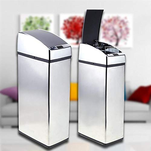 Intelligente Sensoren 6L Edelstahl Mülleimer, Sensor Müll automatischer Funk, Trash Öko-Häuser,6 l