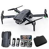 asdzxc L800 Pro Drone con 4k Y 1080p HD Doble Cámara Dual para Adultos Y Niños con Motores Sin Escobillas, Control De La Aplicación, Foto De Gesto/Video, 2 Baterías 50mins Tiempo De Vuelo