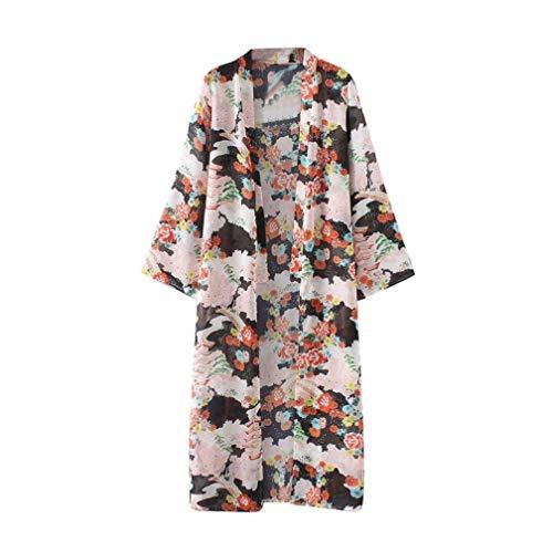 HX fashion Dames Gebreide Jas Losse Lente Comfortabele Maten Herfst Kimono Overhemdjurk Bedrukt Patroon Met Lange Mouwen Chiffon Gezellige Lange Bovenkleding Hoge Kwaliteit Geklede Jas