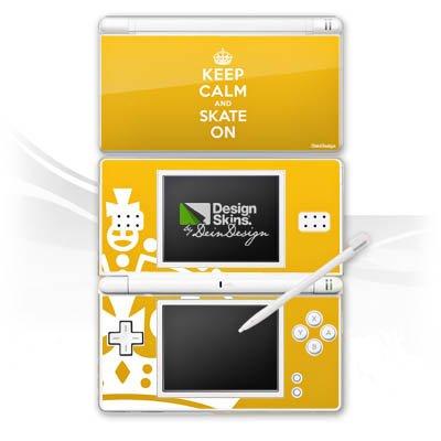 DeinDesign Skin kompatibel mit Nintendo DS Lite Aufkleber Sticker Folie Keep Calm Skateboard Skaten