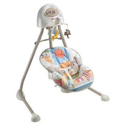 Fisher-Price Papasan Cradle Swing, Mocha Butterfly