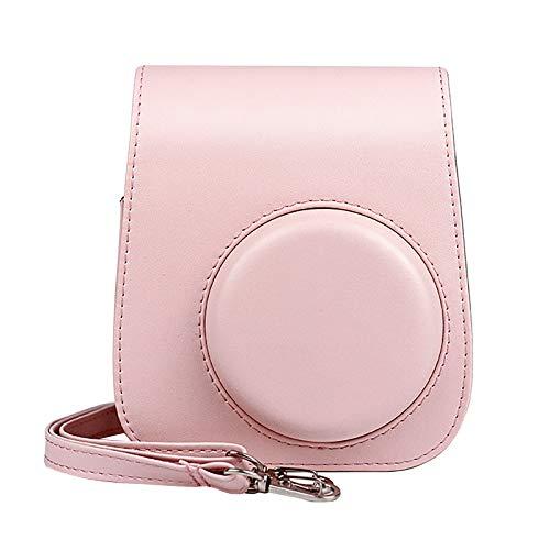 Kamera-Taschen Hülle für Instax Mini 11 Film Camera Sofortbildkamera, Kunstleder Schutztasche Kompaktkamera-Taschen mit Schultergurt & Tasche Case Cover (Pink)