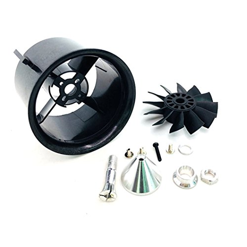 JFtech RC 70mm Duct Fan Unit 12-Blade Propeller Kit Set for RC 1500g Ducted Fan EDF Jet AirPlane