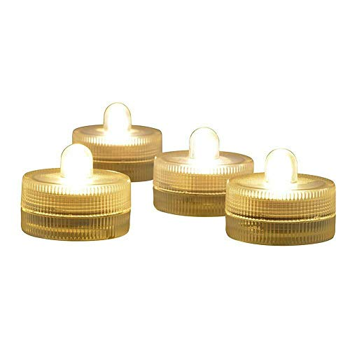 Thanistore 10x LED Tea Light Flameless Candles Submersible Waterproof Wedding Party Decor