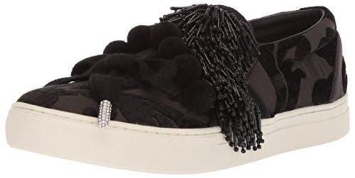 Marc Jacobs Women's Mercer Pompom Slip On Sneaker, Black, 35 M EU (5 US)