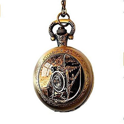 N / A antike Art Taschenuhr, antike Kamera-Taschen-Uhr-Halskette, Photograper Bellows Kamera