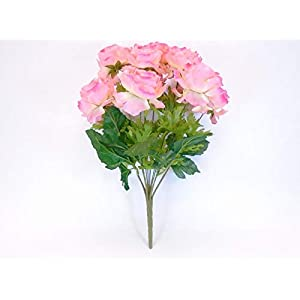 18″ Bouquet Ranunculus Pink Bush 12 Artificial Silk Flowers LivePlant