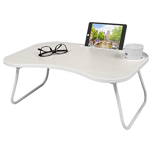 UMI. by Amazon Mesa Plegable para Ordenador portátil, Escritorio para Desayuno, Bandeja de Cama, Mesa Plegable para Estudiante