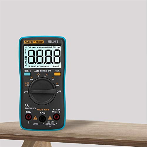 Yongenee Reloj de bolsillo caja de herramientas portátil con multímetro digital de rango automático de mano mesa Herramientas industriales