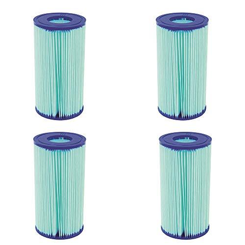 Bestway Flowclear Anti Microbial Type III, A/C Pool Filter Cartridge (4 Pack)