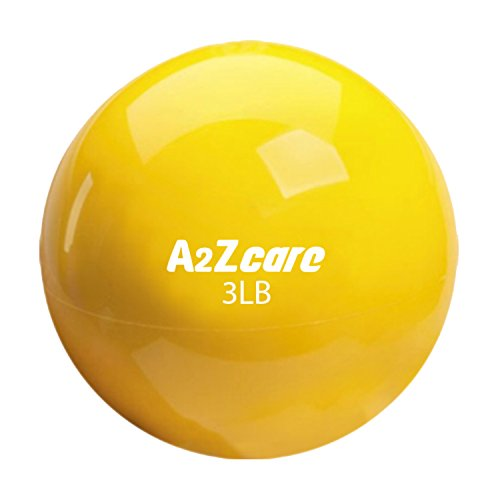 A2ZCARE Toning Ball - Soft Weighted Mini Ball/Medicine Ball (Yellow (3lbs))